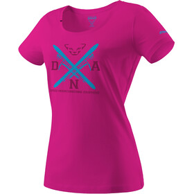 Dynafit Graphic Cotton T-shirt Dames, lipstick